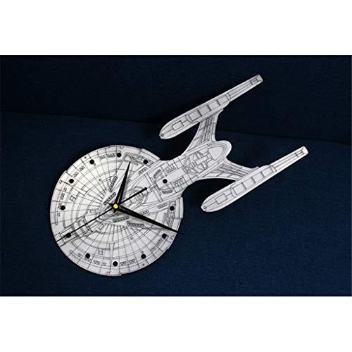 12 Inch Unique Metal Texture Fashion Creative Millennium Falcon Spacecraft Wall Hanging Watch Quartz Clock Silence