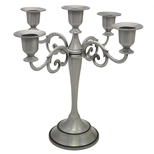 5-Candle Metal (Pewter Candelabra)