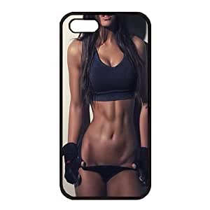 iPhone 5 5S Case, Rubber Material, Black color,iPhone 5 5S Cover Clear Black Back Bumper DIY Customization Fusion Hybrid Cover Shock Absorbent iPhone 5 5S Case, shatterproof and anti scratch material, iPhone 5 5S Case With Lose Weight