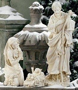 Roman 3-Piece Joseph's Studio Holy Family Outdoor Christmas Nativity Set (Scenes For Outside Nativity Sale)