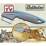 ASOTV Shed Ender Professional De-Shedding Tool for Dogs & Cats Color Silver & Blue