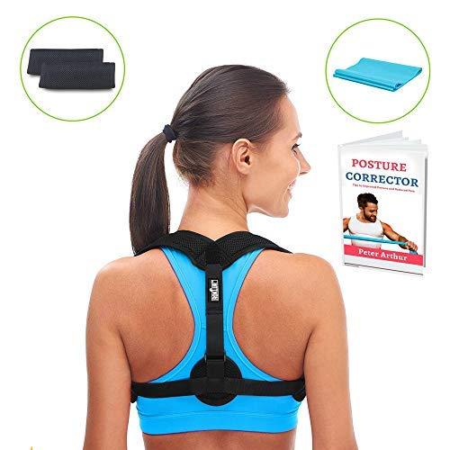 Premium Roklur 2.0 Posture Corrector for Women and Men - Comfortable Effective Clavicle Brace Postural Trainer Support - Upper & Lower, Shoulder, Neck Pain Relief Device - Adjustable Straightener