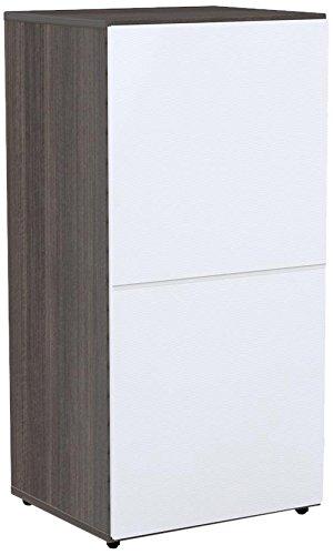 (Nexera 221233 Allure 1-Door Bookcase, Ebony and White)