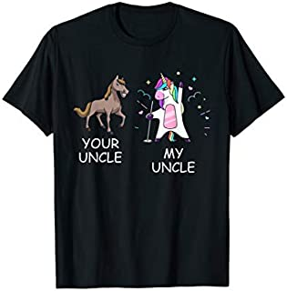 Cool Gift Your Uncle Horse My Uncle Unicorn Funny Gift  For Kid Women Long Sleeve Funny Shirt / Navy / S - 5XL