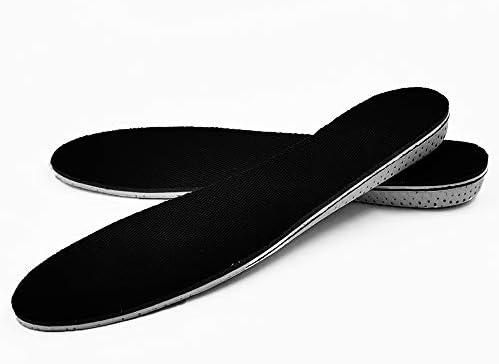 Höhe Einlegesohlen erhöhen Stoßdämpfender Memory Foam Heel Lifts Schuheinlagen Erhöht 2cm für Stiefel/Absätze/Sportschuhe/Turnschuhe für Männer und Frauen