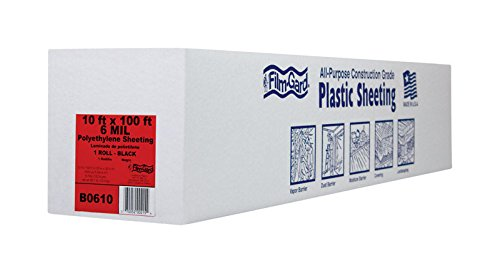 10' Polyethylene Plastic Bags - Film-Gard Polyethylene Sheeting 10' X 100' 6mil Black