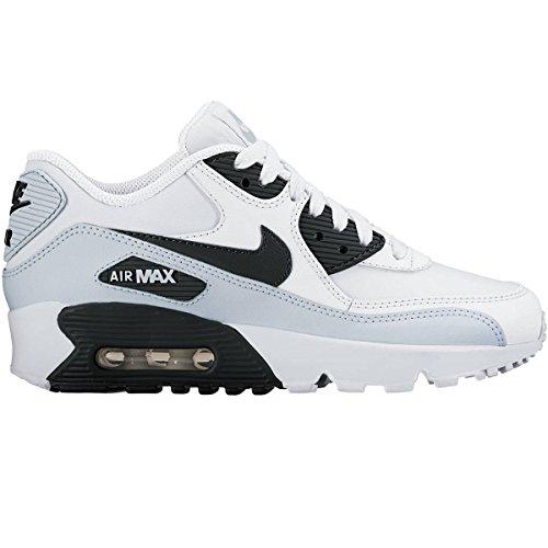 Nike Kids Air Max 90 Ltr (GS) White/Black Pr Platinum Whi...