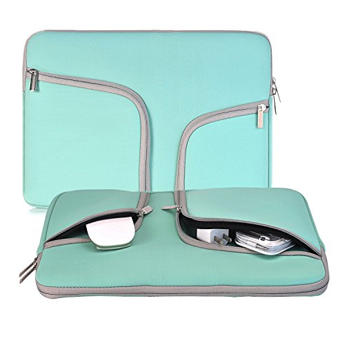 egiant Laptop Sleeve 13.3 Inch, Water-Repellent Neoprene Protective Case Bag Compatible Mac Air 13 /Pro 13 Retina/Pro 13 Touch Bar/Chromebook 13 /Stream 13, Notebook Carrying Cases - Turquoise