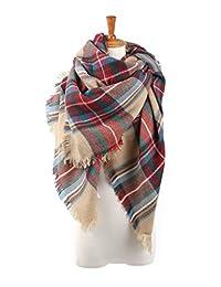 American Trends Fashion Soft Warm Tartan Scarf Large Wrap Shawl Color1