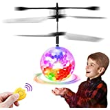 Feiqio Flying Ball Toy for Kids, RC Toys with LED Drone Sensor Induction, Rechargeable Flying Toys with Remote Controller, Indoor/Outdoor Parachute FiguresToys, Best Gifts for Kids Age Over 6 Years