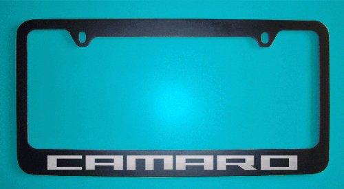 Chevrolet Camaro Black License Plate Frames V2 (Zinc Metal) (Chevrolet Camaro Black)