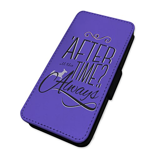 After all this Time – always – Custodia ad aletta in pelle cover Apple Iphone X