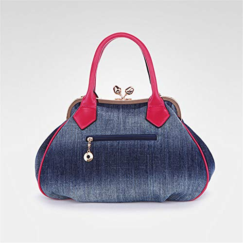 Blue Da Mano Moda In A Rilievo Fiori gold Borse Donna Piccola Borsa Spalla pTwSqp7On
