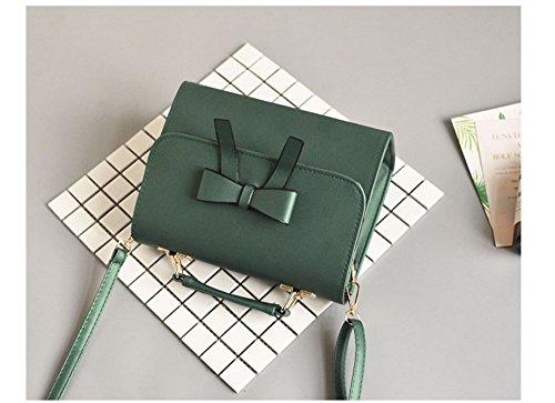 Gwqgz Lady's Bag Skew Spanning Small Single New Sweet Shoulder Handbag Square Bag Bow 5rT65SqxHw