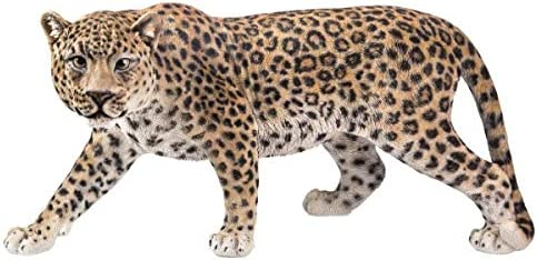 Pacific Giftware PT Large Size Realistic Look Statue Wildlife Leopard Cougar Decorative Resin Figurine