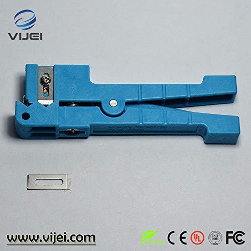 - VIJEI 45-163 Coaxial Cable Stripper/Fiber Optic Cable Stripper Optical Fiber Jacket Stripper