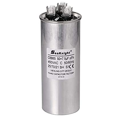 BlueCatELE Generic 7.5 uF MFD Motor Run Capacitor Air Conditioner Capacitor Single Oval 450V AC Withstand Voltage for Condenser or Heat Pump