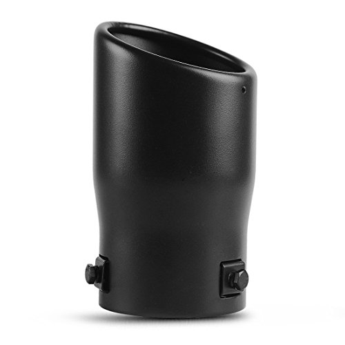 6 Long Black Powder Coated Finish. AUTOSAVER88 Bolt On Stainless Steel Exhaust Tailpipe Tip 2-2.5 Inch Inlet Black Exhaust Tip 3.5 Outlet 2-2.5 Inlet