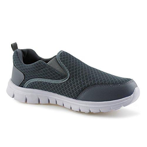 Hawkwell Mens Performance Sport Slip-on Loafer Sneaker Dark Grey