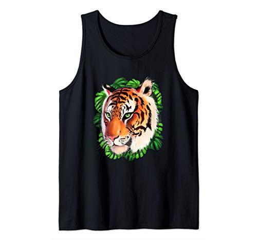 Fearless Bengal Tiger Face Wild Big Cat Tank Top