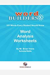 Word Builders 101 Workbook: Word Analysis Worksheets for 101 Words Paperback
