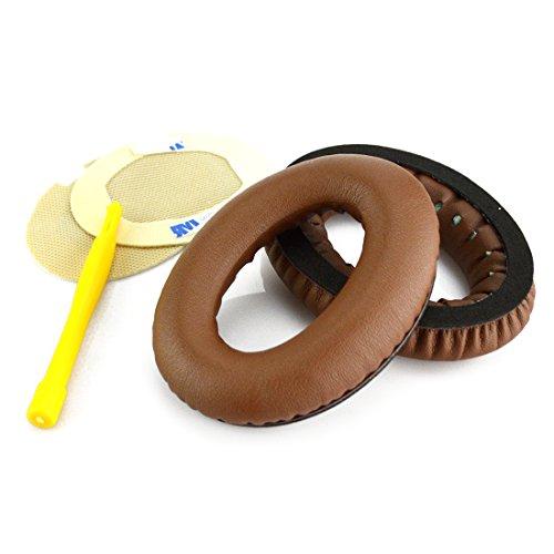 Bose QuietComfort QC25, QC2, QC15, Around-Ear AE2, AE2i, AE2w Headphone Replacement Ear Pad / Ear Cushion / Ear Cups / Ear Cover / Earpads Repair Parts (Coffee / Brown)