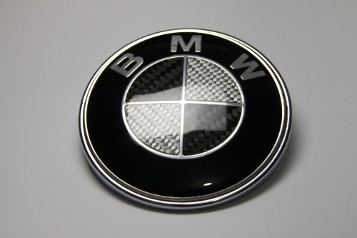 Afauto 7pcs BMW Black/Silver Carbon Fiber Style Emblem Logo Badge Set 73/82mm