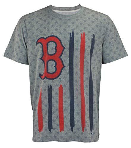 Klew Flag T-Shirt Team Color Boston Red Sox (Medium)