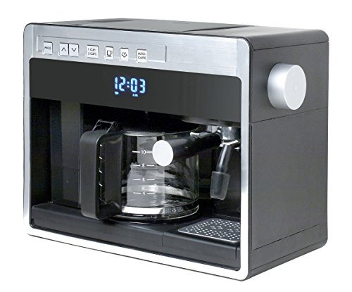 Espressione 26161 New 3-in-1 Combination Coffee Beverage System, Black Silver