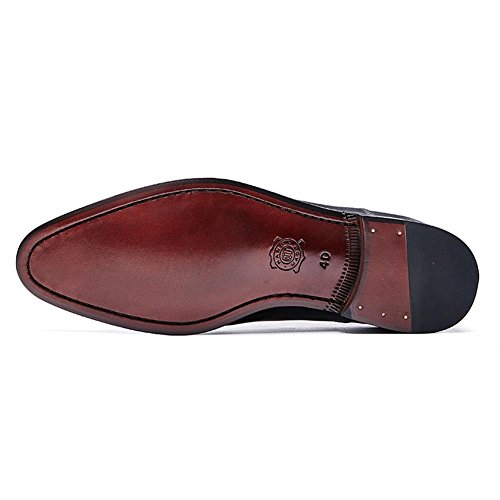 Da Uomo Clever In Pelle Oxford Scarpe Da Sposa Formale Business Lavoro Manuale Slip Crocodile Pattern Nappa Casual To Men Nero Marrone Taglia 38-44 Nero