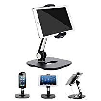 PU Leather Multi-device Charging Station and Cord Organizer Stand Dock
