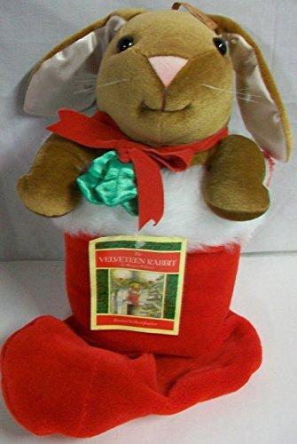 The Velveteen Rabbit Red Felt Ribbon Bow w Holly Target 1985 Large Rabbit Ears Holiday Plush 23