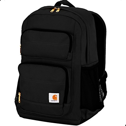 Carhartt Legacy Standard Work Backpack with Padded Laptop Sleeve and Tablet Storage, Black