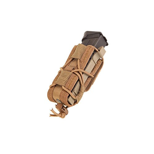 HSGI Belt Mount Pistol TACO Single Magazine MAG Pouch - Coyote Brown, One Pack