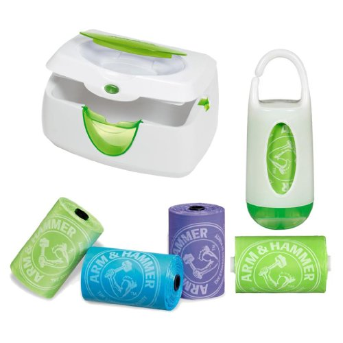 Munchkin Warm Glow Wipe Warmer and Bag Dispenser Set with Refills