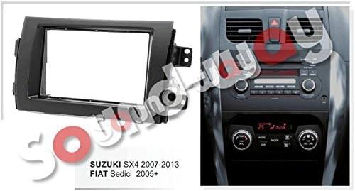 Sound-way 2 DIN Radio Frame Car Radio Fascia Adapter for Fiat Sedici//Suzuki SX4