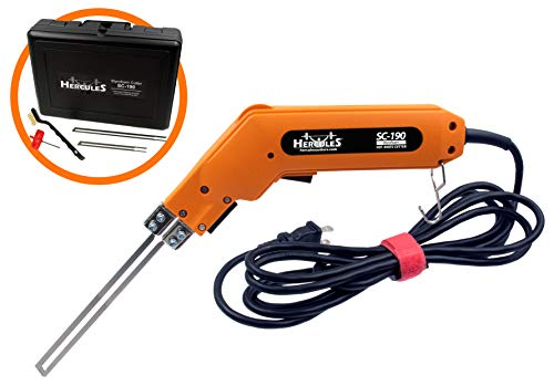 - Hercules SC-190 Handheld Electric Styrofoam Hot Knife and Accessories (SC-190 Cutter Kit)