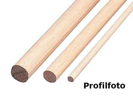Rundstab Massivholz glatt Buche /Ø 20 mm L/änge 1000 mm 5 St/ück