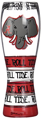Game Day Outfitters NCAA Alabama Crimson Tide Drinkware Pilsner Glass, One Size/24 oz, Multicolor - Pilsner Glass Game
