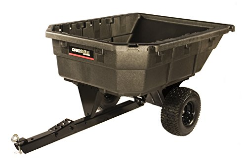Ohio Steel 4048PSD Heaped Poly Dump Cart with Swivel Dump, 12.5 cu. ft.