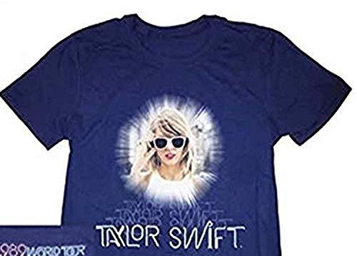 Taylor Swift 1989 Navy Skyline Photo Tour Tee T-Shirt Small, Medium, Large (Youth Medium)