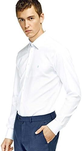 Caramelo, Camisa Vestir Slim Con Cuello Inglés, Hombre ...