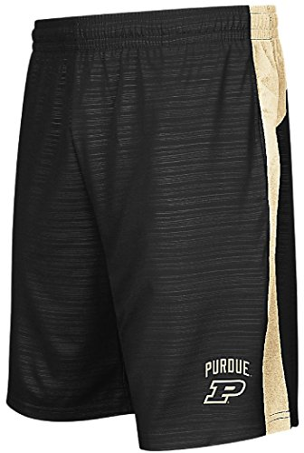 Colosseum NCAA Purdue Boilermakers Mens Black Synthetic Shorts-in The Vault (XL=36/37)