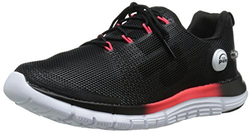 Reebok Women's Z Pump Fusion Polyurethane Running Shoe, White/Black/Neon Cherry, 8 M US