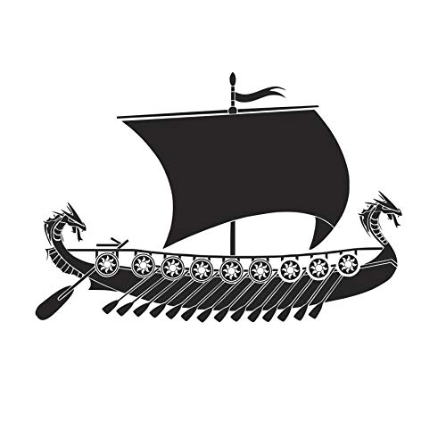 Ziweipp Dragon Viking Ship Wall Sticker Boat Vinyl Art