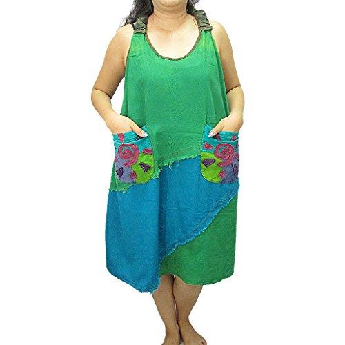 Back Pocket 2 Women's D0254 Cotton Knot Sleeveless Dress x4A4wIB