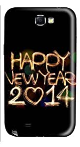 2015 Happy New Year Light Painting Bokeh PC and For HTC One M9 Case Cover