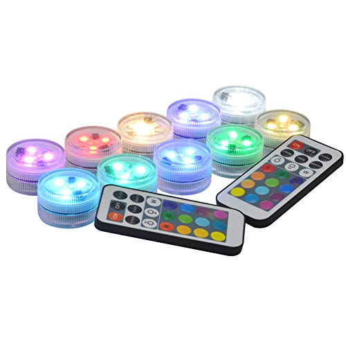 Submersible LED Lights Flameless LED Candles Tea Lights 1.5