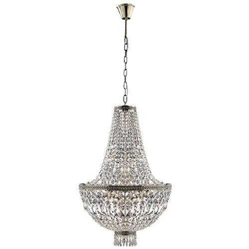 - Worldwide Lighting W83088B20 Metropolitan 8 Light Medium Chandelier, Antique Bronze Finish and Clear Crystal, 20