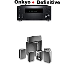 Onkyo TX-RZ830 9.2 Channel 4K Network A/V Receiver Black + Definitive Technology Pro Cinema 800 System Black Bundle